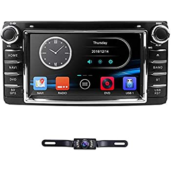 hizpo Universal Car DVD Player for Toyota Camry Corolla RAV4 4Runner Hilux Tundra Celica Auris Radio 2 Din 6.2 Inch in Dash GPS Sat Navigation