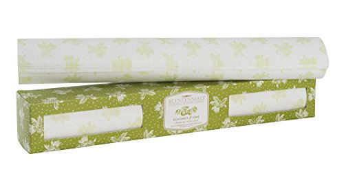 Scentennials Coconut & Lime (6 Sheets) Scented Drawer Liners (Drawer Scented Vanilla Liner)