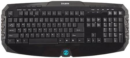 Zalman ZM-K300M - Teclado (USB, Negro, ABS sintéticos, PC/Server, Hogar, Estándar)