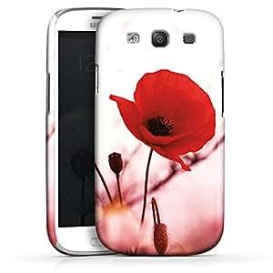 Carcasa Design Funda para Samsung Galaxy S3 i9300 / LTE i9305 PremiumCase white - Red Flowers