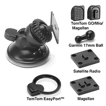 Bracketron Mobile Universal - Bracketron Universal GPS Nav-Pro Mobile GPS Window Mount for TomTom, Magellan, Mio, Garmin GPS Devices and Satellite Radios