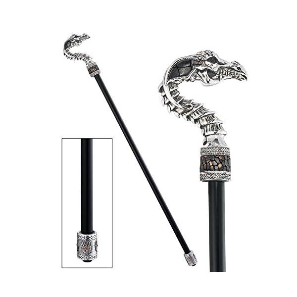 Design Toscano Gothic Walking Stick Dragon Dragonsthorne Walking stick 3