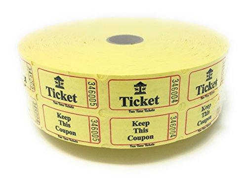 yellow double raffle ticket roll - 7