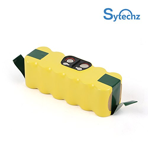Sytechz Irobot Battery Replacement 3.5Ah Ni-MH 14.4V Battery for iRobot Roomba R3 500, 600, 700, 800&900 Series 500 530 560 550 595 600 650 620 630 700 760 770 780 800 870 880 900 980
