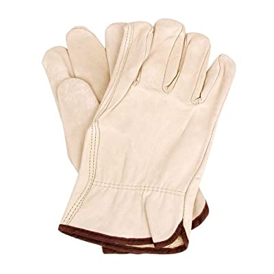 Mens Cowhide Leather Work Gloves by Wells Lamont - Y0135 - XL