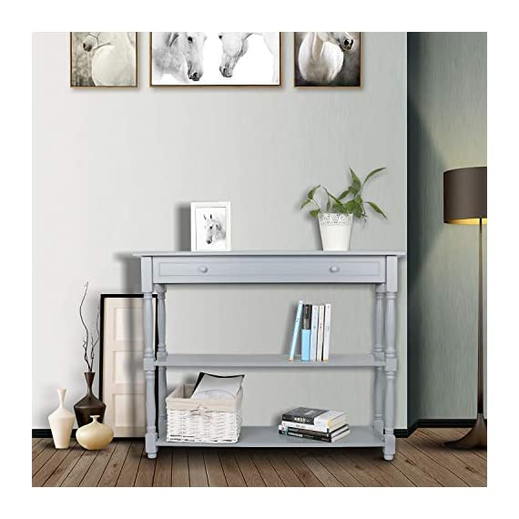 Hromee Sofa Console Table with 3 Tier Shelf Furniture for Entryway Living Room Easy Assemble -  - living-room-furniture, living-room, console-tables - 41j7wRcYq L. SS570  -