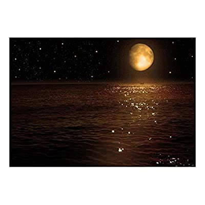 Wall26 - an Ocean View Resting Below a Night Time Sky- Wall Mural, Removable Sticker, Home Decor - 100x144 inches