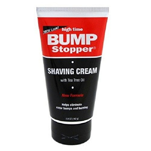 High Time Bump Stopper Shaving Cream With Tea Tree Oil 5 oz. Tube