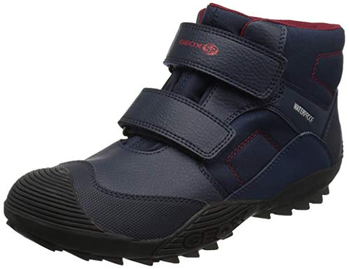 Geox Atreus Boy Waterproof & Insulated Boot Ankle, Navy, 27 Medium EU Toddler (10 US) (Geox Boots For Boys)