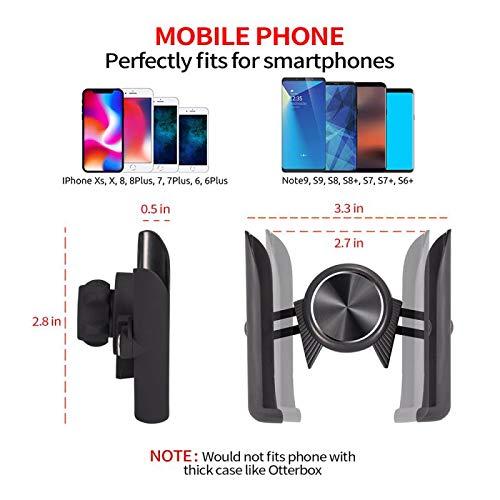 Car Phone Mount,WoxonTech Universal Air Vent Car Mount Phone Holder and Dashboard Mount Holder Cradle for iPhone XS、XS Max、X、8、8 Plus、7、7 Plus、SE、6s、6 Plus、6、5s、5、4s、4、Samsung Galaxy S6、S5、S4、LG Nexus