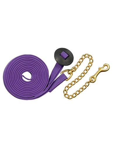 Basic Flat Cotton Web Lunge Line w/Chain Purple