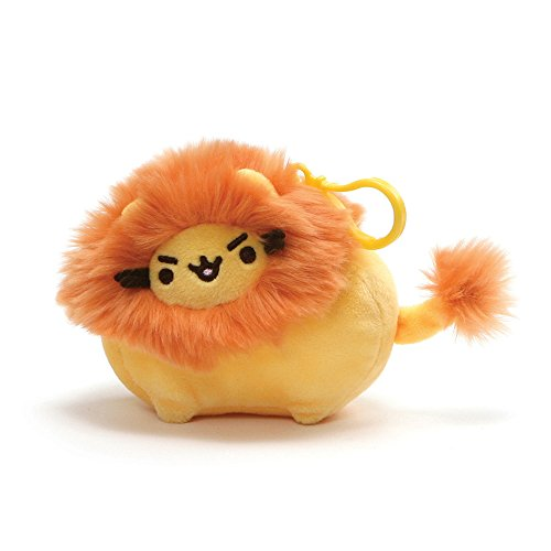 GUND Pusheen Pusheenimal Lion Plush Stuffed Animal Backpack Clip, Yellow and Orange, 5