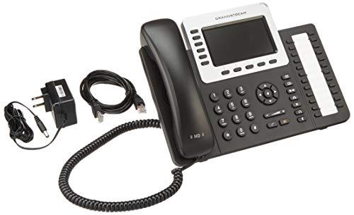 Grandstream GXP2160 6 Line HD VoIP IP Gigabit Phone 24 SideKeys BT PoE Color LCD (Renewed) ()