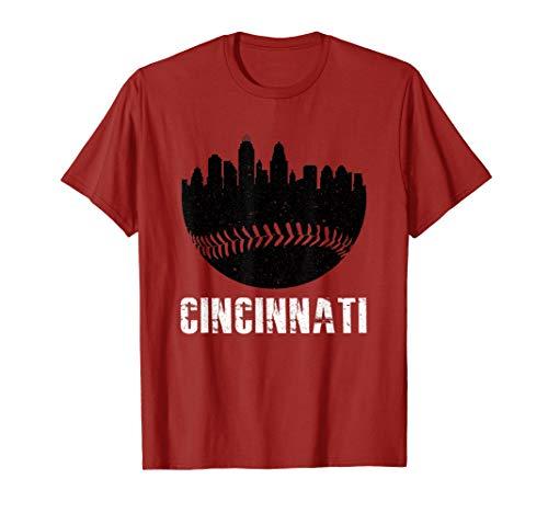 (Vintage Downtown Cincinnati Shirt Baseball Retro Ohio State)