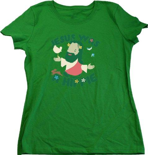 Ann Arbor T-shirt Co. Women's JESUS WAS A HIPPIE T-shirt