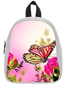 Flower Roses Butterfly Kid's School Bag & Backpack for Kids