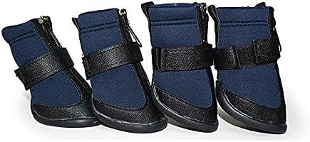 Perro Botas Zapatos Golden retriever Botas Antideslizante Usable Grande Zapatos grandes para perros Zapatos impermeables 3 Colores 6 Tamaños (XXL, Azul)