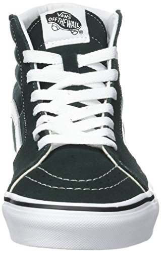 Vans Unisex Adults' Sk8-Hi Suede/Canvas Trainers Green (Scarab/True White) wholesale price cheap online discount new styles p4pc8G0