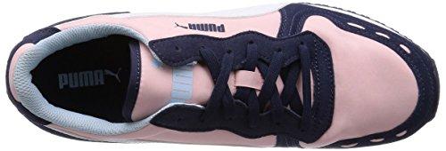 Puma Cabana Racer Fun - zapatilla deportiva de material sintético unisex azul - Blau (peacoat-white-crystal rose 04)