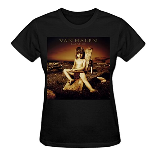 Abover Van Halen Balance 1 T Shirts For Women Funny O Neck Black