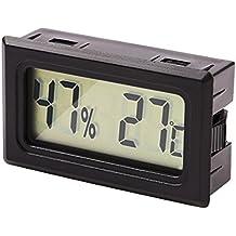 Ray-JrMALL Mini Digital Hygro Thermometer Wireless Hygrometer Humidity Monitor Temperature Gauge Black