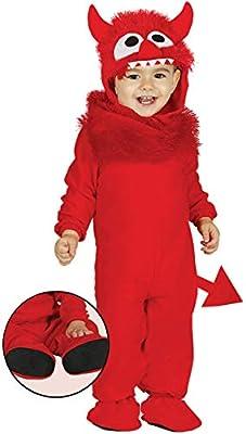 NET TOYS Tierno Disfraz de bebé Monstruo   Rojo en Talla 1 - 2 ...