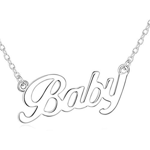 Costume Missing Dog Lady Old (Daesar Gold Plated Women's Baby Cubic Zirconia Pendant Necklace for)