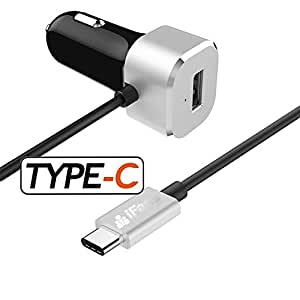 Cargador de coche con cable USB 3.0 tipo C, 15 W 5 V/3 A, de