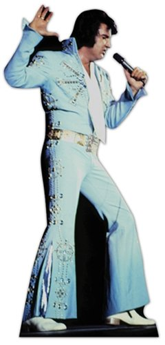 (SC240 Elvis Presley Blue Jumpsuit Cardboard Cutout)