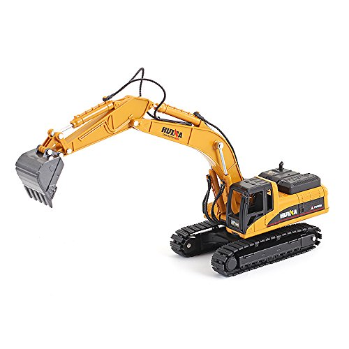 1/50 Scale Diecast Crawler Excavator Construction Vehicle Car Models Toys for Kids by HuiNa (Image #1)