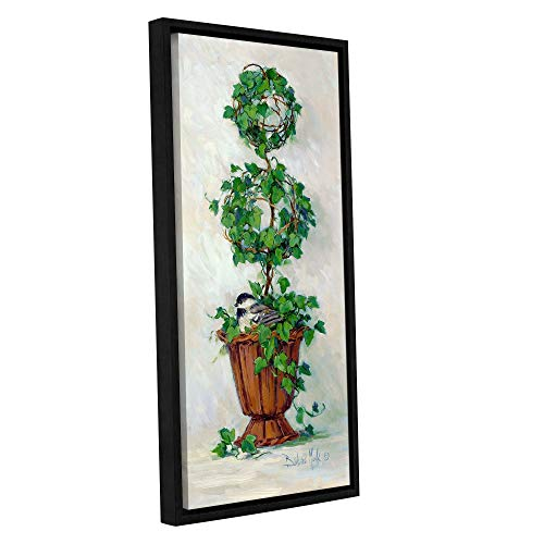 Double Topiary Sphere - ArtWall Barbara Mock 'Double Sphere Topiary' Gallery-Wrapped Floater-Framed Canvas Wall Art 12x24