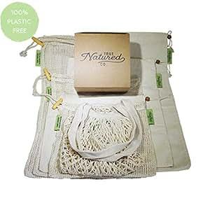Amazon.com: Bolsas de productos reutilizables para la compra ...