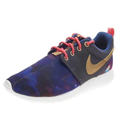 Nike Roshe ONE Print(GS) (6.5 D(M) US, MTLC HMTT/Mtllc GLD-LT PHT BL)