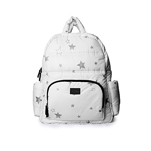 7AM Enfant BK718 Print Backpack, White Stars by 7AM Enfant