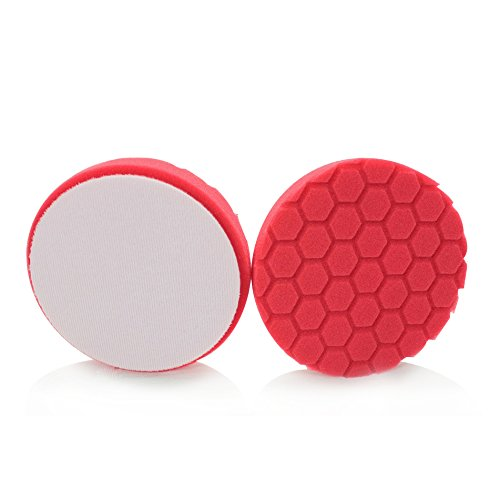 Chemical Guys BUFX_107_HEX6 Hex-Logic Ultra Light Finishing Pad, Red (6 Inch) by Chemical Guys (Image #3)