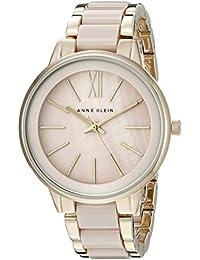 Women's AK/1412BMGB Gold-Tone and Blush Pink Resin Bracelet Watch
