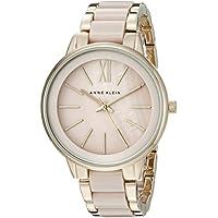 Anne Klein Women's AK/1412BMGB Gold-Tone and Blush Pink Resin Bracelet Watch