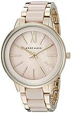 Anne Klein Women's Gold-Tone and Blush Pink Resin Bracelet Watch