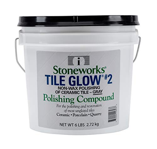 (Tile Glow #2 Gray (6 Lb) Natural, Non-Wax Compound for The polishing of Most unglazed Ceramic, Porcelain and Quarry Tiles, which Gives a Long Lasting Finish and Natural Shine to Tiles )