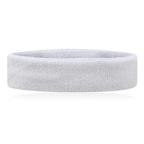 bandeau-tête Frottee Haarband Sport vielschwitzer Einheitsgröße Weiß