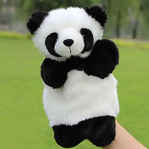 (Cute Animal Plush Hand Puppets Stuffed Easter Bunny Educational Toys Storytelling Preschool Teaching Big Size Panda One Size)