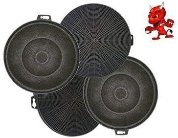 Mega set de 4 filtros de carbón activo filtro Filtro de carbón para campana Campana Siemens lc4595002, lc4595003, lc4595006: Amazon.es: Iluminación