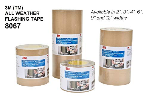 3M All Weather Flashing Tape 8067 Tan, 12 in x 75 ft Slit Liner (1 roll) by 3M (Image #3)