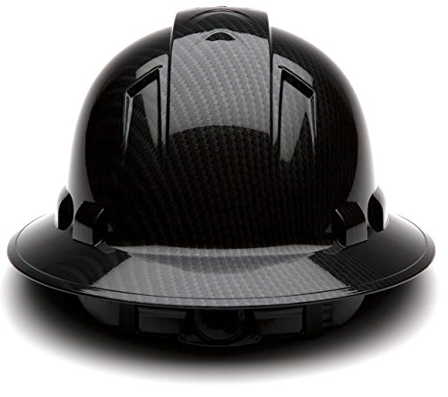 Pyramex Full Brim Hard Hat with Standard Ratchet Suspension Color Shiny Black by Pyramex (Image #2)
