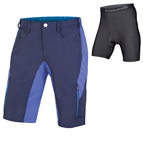 Endura SingleTrack III Baggy Cycling Short with Liner Navy, X-Large