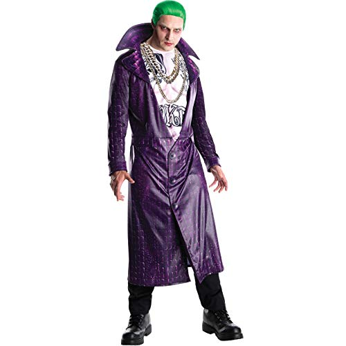 Rubie's Men's Suicide Squad Deluxe Joker Costume, As Shown, Extra-Large (Suicide Squad Joker And Harley Quinn Images)