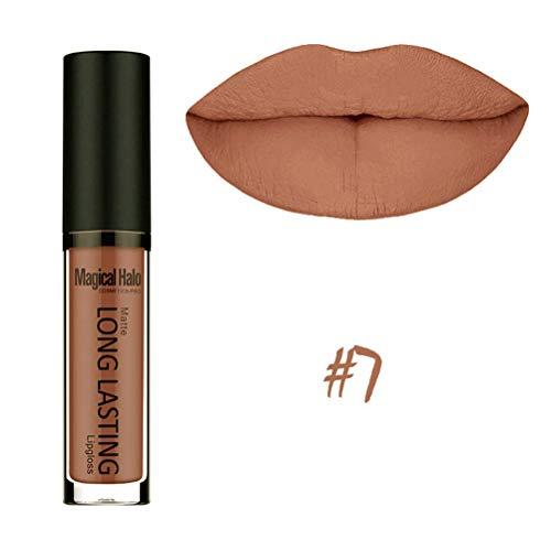 (Matte Lipstick Colorstay Lip Gloss Womens Purple Shimmer Colorful Long Lasting Makeup Lipgloss)