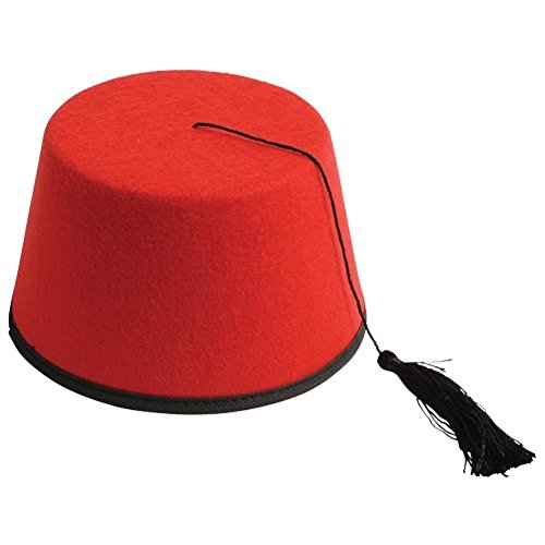 USToys Adult Felt Turkish Dr Who Shriner Fez Red (Dresses Hat Red Society)