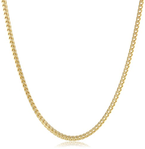 Yellow Italian Franco Chain Necklace
