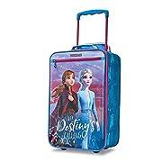 American Tourister Kids' Disney Softside Upright Luggage, Frozen Destiny, Carry-On 18-Inch